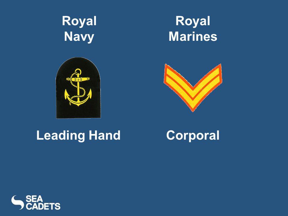 Leading HandCorporal Royal Navy Royal Marines