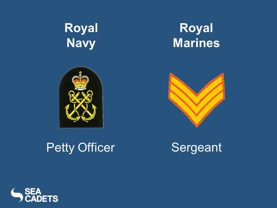 Petty Officer Sergeant Royal Navy Royal Marines