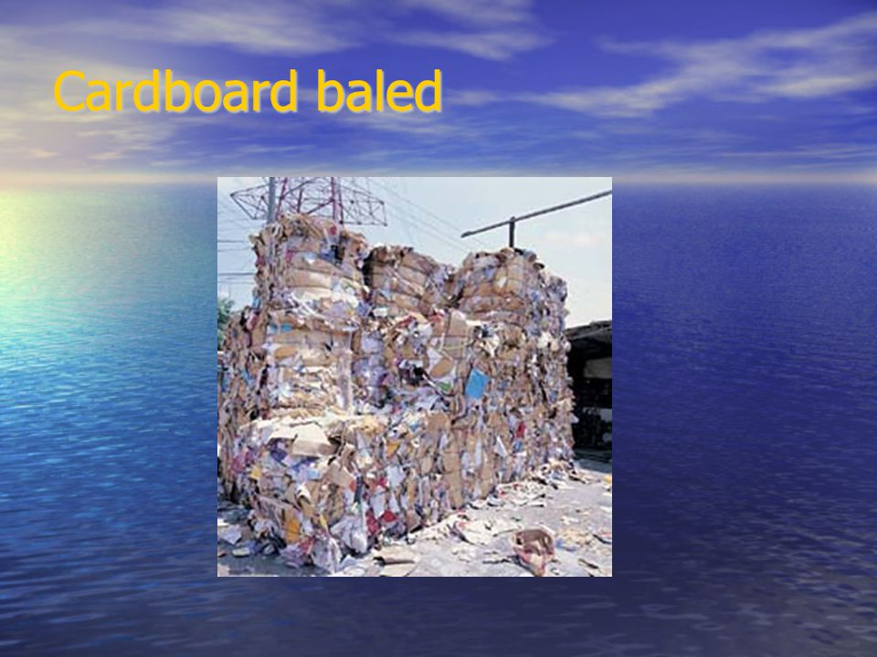 Cardboard baled