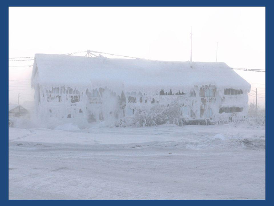 Oymyakon The coldest town on earth A föld leghidegebb városa.