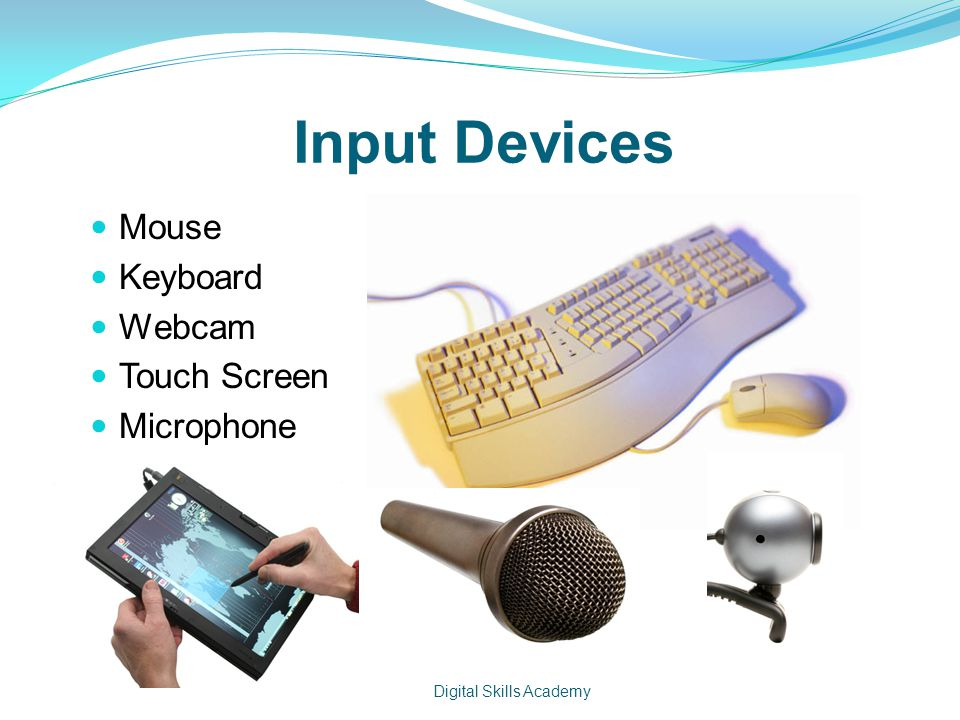 Input Devices Mouse Keyboard Webcam Touch Screen Microphone Digital Skills Academy