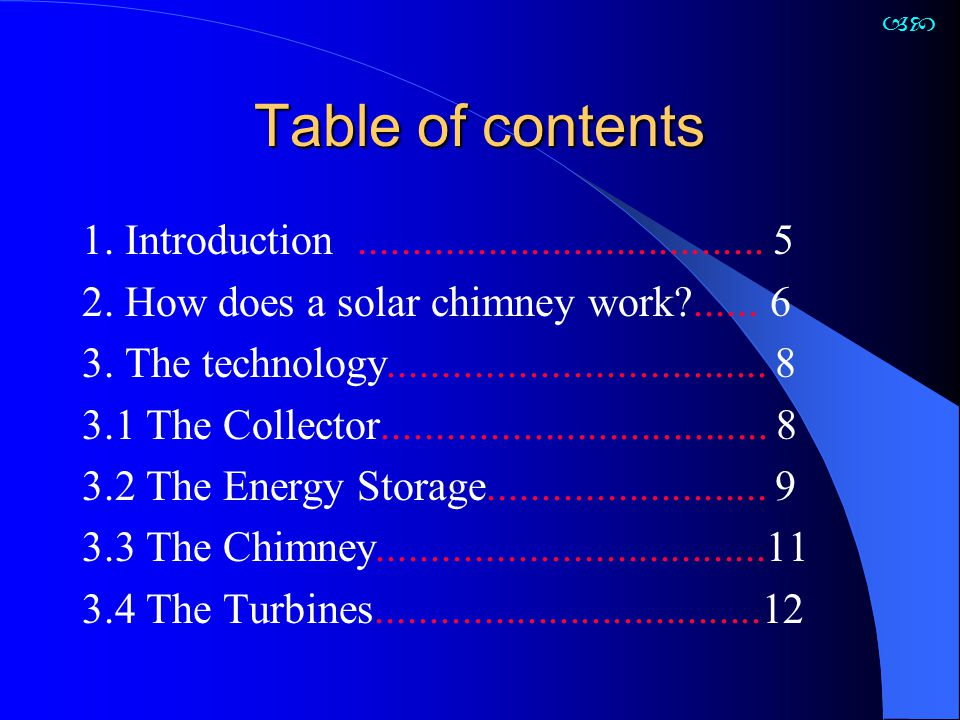 Precise description of the output pattern of a solar chimney under given meteorological boundary conditions and structural dimensions is possible only with an extensive thermodynamic and flow dynamic computer program.