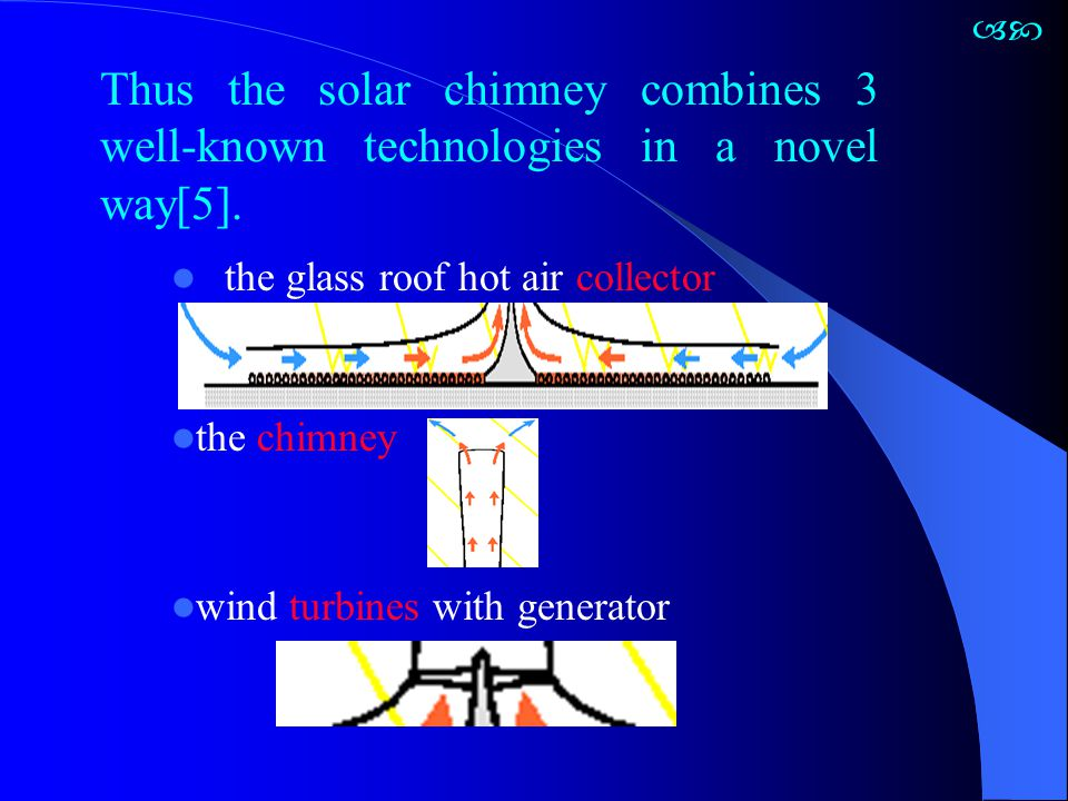 The simple balance equation is independent of collector roof height because friction losses and ground storage in the collector are neglected G=1000W/m 2 ΔT=30 0 C  = 0.75-0.8 β = 5-6 W/m 2 Thus, with radiation of 1000 W/m 2 a collector efficiency of 62% is established.