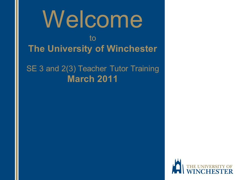 Our Vision of the Winchester ITE Student A professional risk taker and a creative thinker Someone who questions received wisdom; politically astute and critically engaged with current policy Motivated, interested, enthusiastic and curious A reflective practitioner who is willing to change his/her mind A confident practitioner who is able to integrate subject knowledge and pedagogical understanding, and who understands the significance and importance of doing this A natural team member both in school and on the programme.