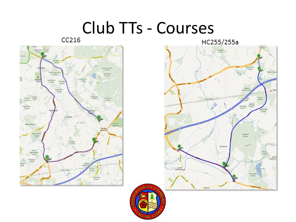 Club TTs - Courses CC216 HC255/255a