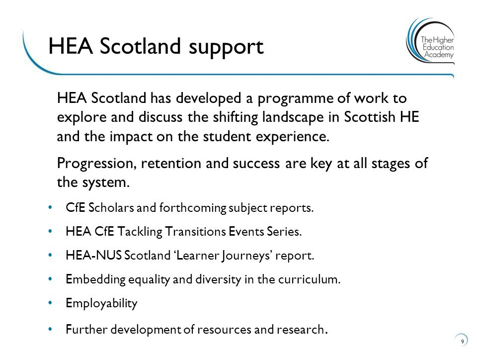 HEA Scotland has developed a programme of work to explore and discuss the shifting landscape in Scottish HE and the impact on the student experience.