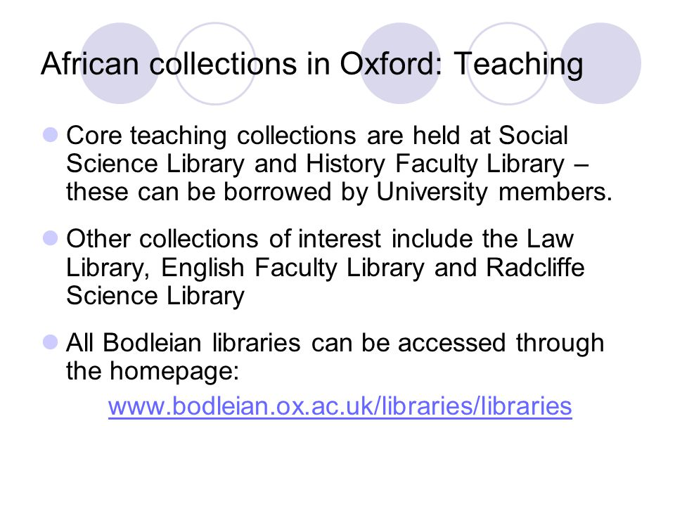 Accessing archive materials The main tools for accessing primary source materials and archives for Africa in and outside Oxford include:  Online catalogues of Western MSS  Databases of Foreign Office and Colonial Office Confidential Prints  Archives Hub  National Register of Archives  A2A (Access to Archives)  Mundus Gateway  Anti-Slavery International  CAMP