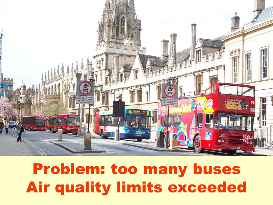 Problem: too many buses Air quality limits exceeded