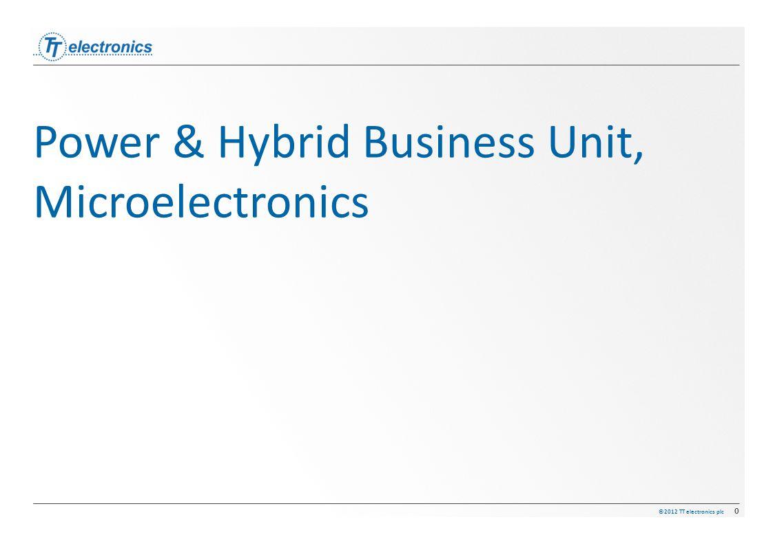 ©2012 TT electronics plc 0 Power & Hybrid Business Unit, Microelectronics