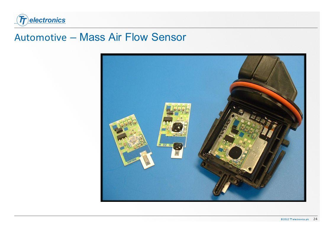 ©2012 TT electronics plc 24 Automotive – Mass Air Flow Sensor
