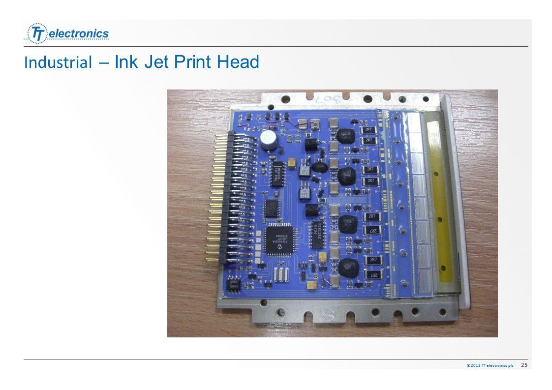©2012 TT electronics plc 25 Industrial – Ink Jet Print Head