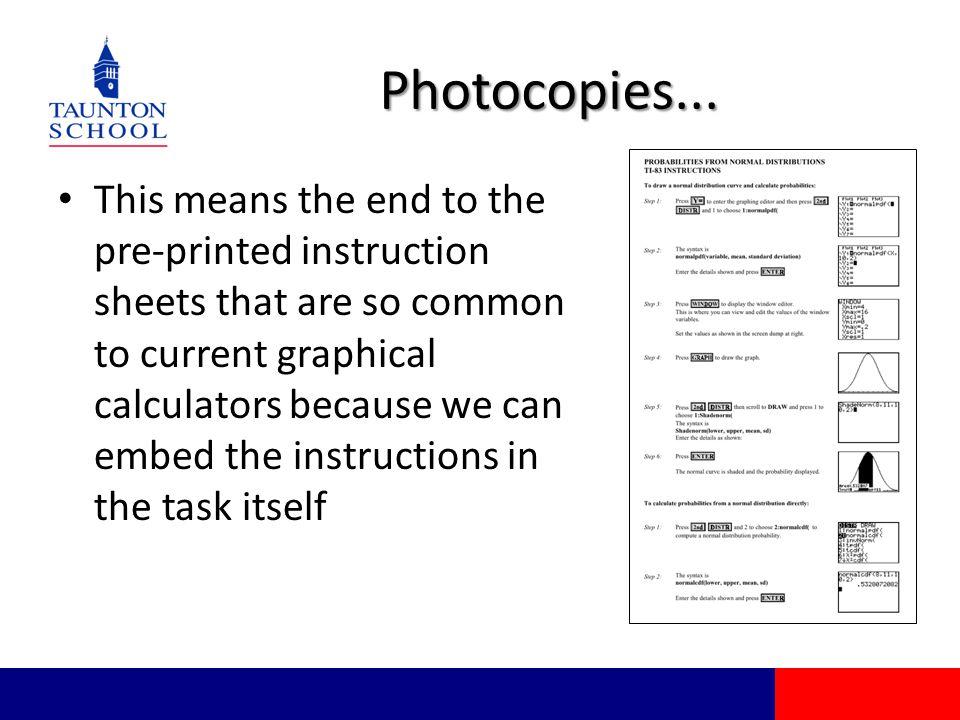 Photocopies...