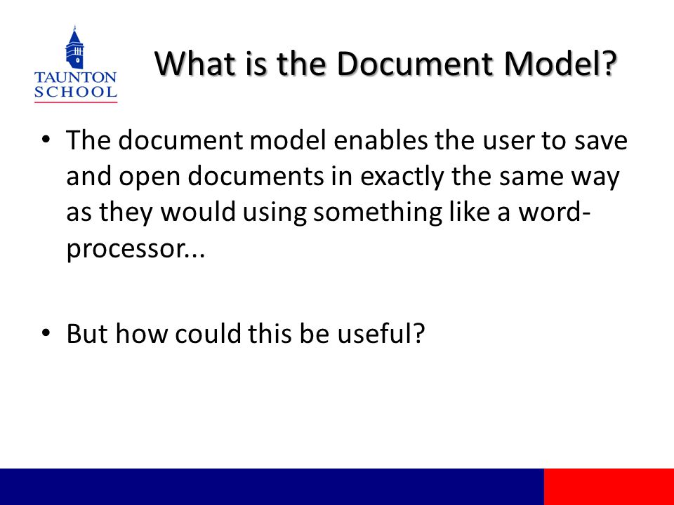 What is the Document Model.
