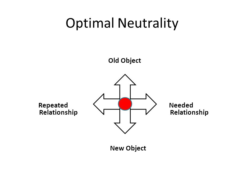Optimal Neutrality Old Object Repeated Needed Relationship Relationship New Object