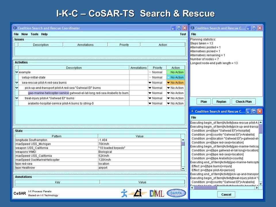 I-K-C – CoSAR-TS Search & Rescue