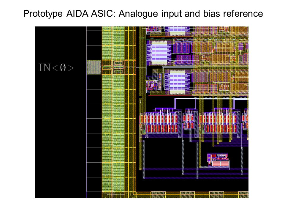 Prototype AIDA ASIC: Analogue input and bias reference