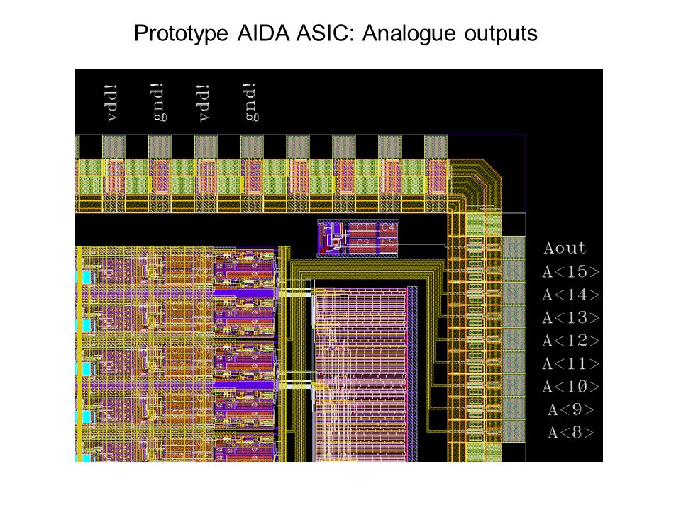 Prototype AIDA ASIC: Analogue outputs