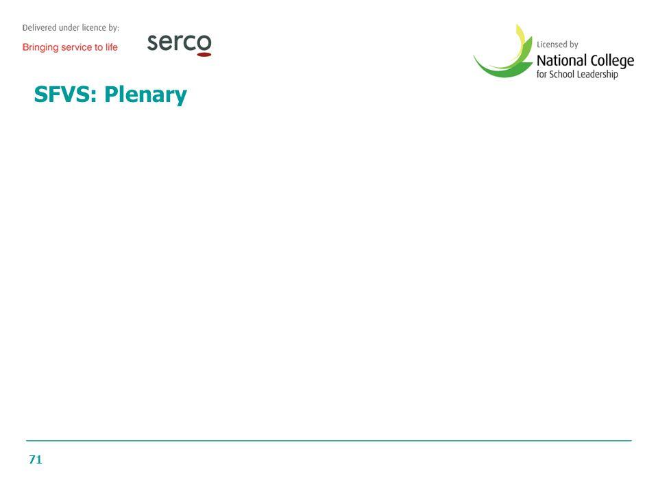71 SFVS: Plenary