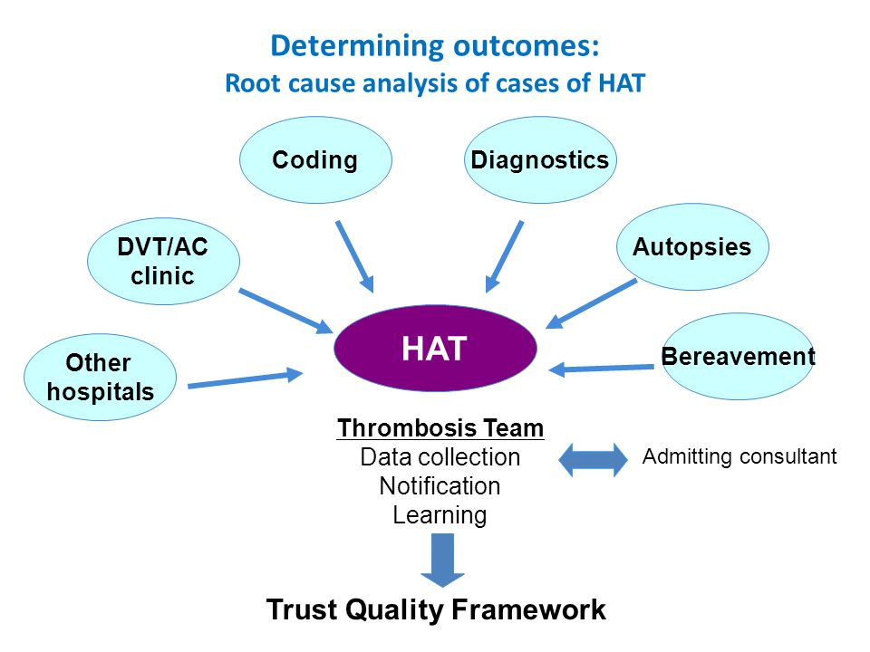 King's HAT project: conclusions Electronic solutions with dedicated VTE training led to sustained improvement in risk assessment 20% reduction in overall HAT events Comprehensive VTE prevention significantly reduces preventable patient harm