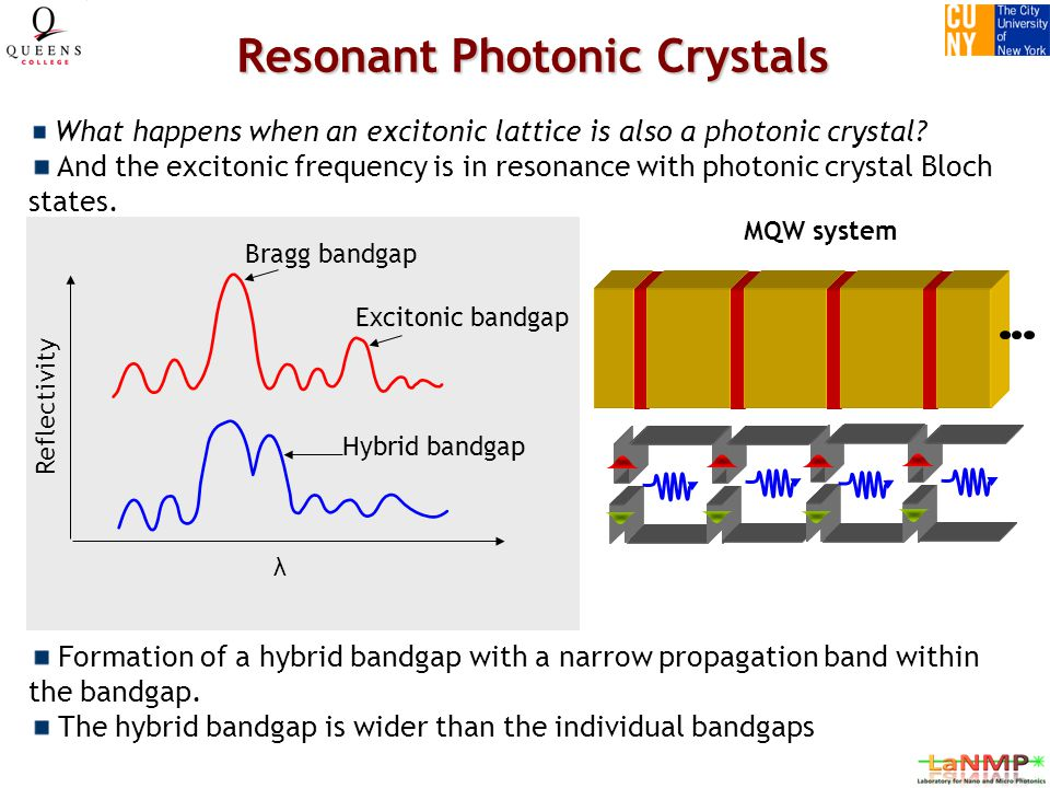 What happens when an excitonic lattice is also a photonic crystal.