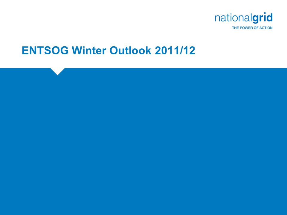 ENTSOG Winter Outlook 2011/12