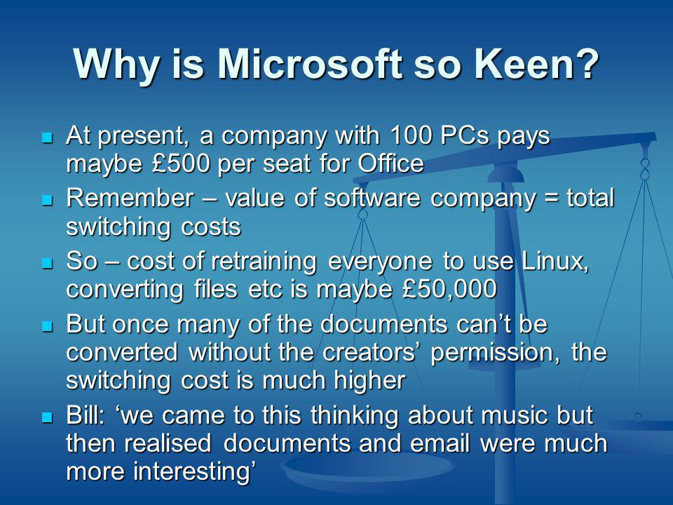 Why is Microsoft so Keen.