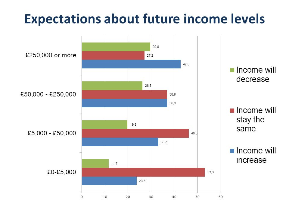 Expectations about future income levels