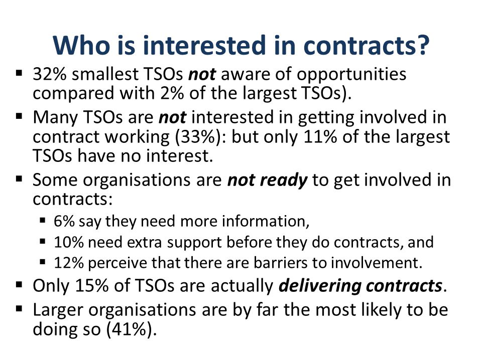Who is interested in contracts.