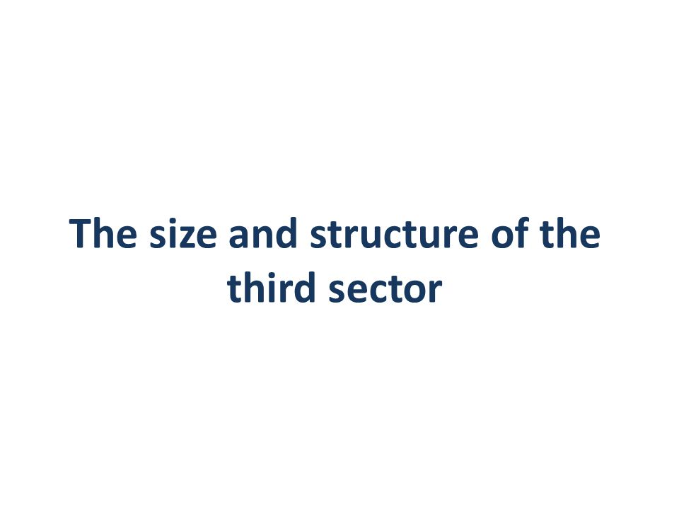 The size and structure of the third sector