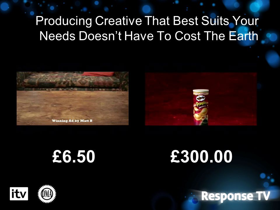 Producing Creative That Best Suits Your Needs Doesn't Have To Cost The Earth £6.50£300.00