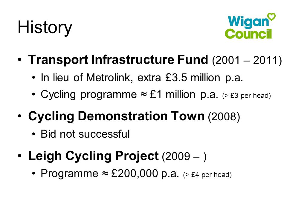 Transport Infrastructure Fund (2001 – 2011) In lieu of Metrolink, extra £3.5 million p.a.