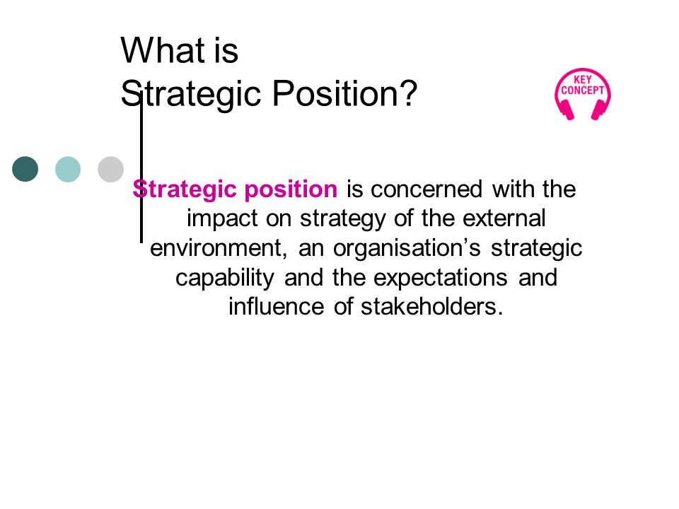 What is Strategic Position.