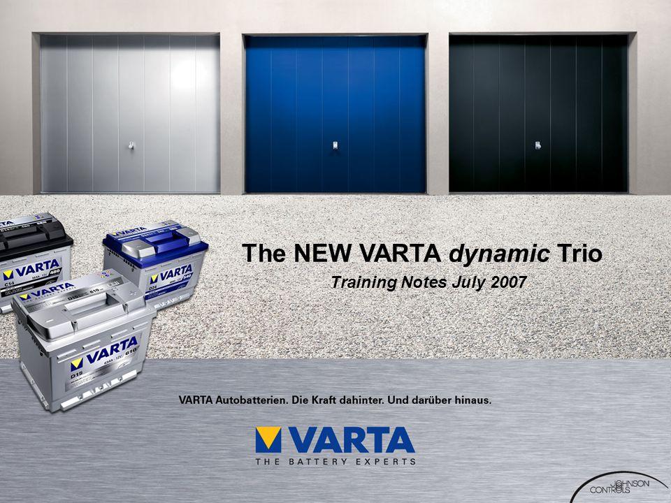 The NEW VARTA dynamic Trio Training Notes July 2007