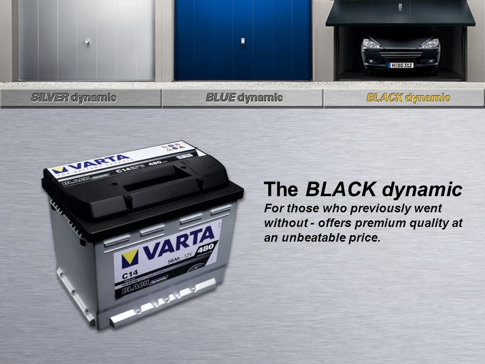 The BLACK dynamic For those who previously went without - offers premium quality at an unbeatable price.