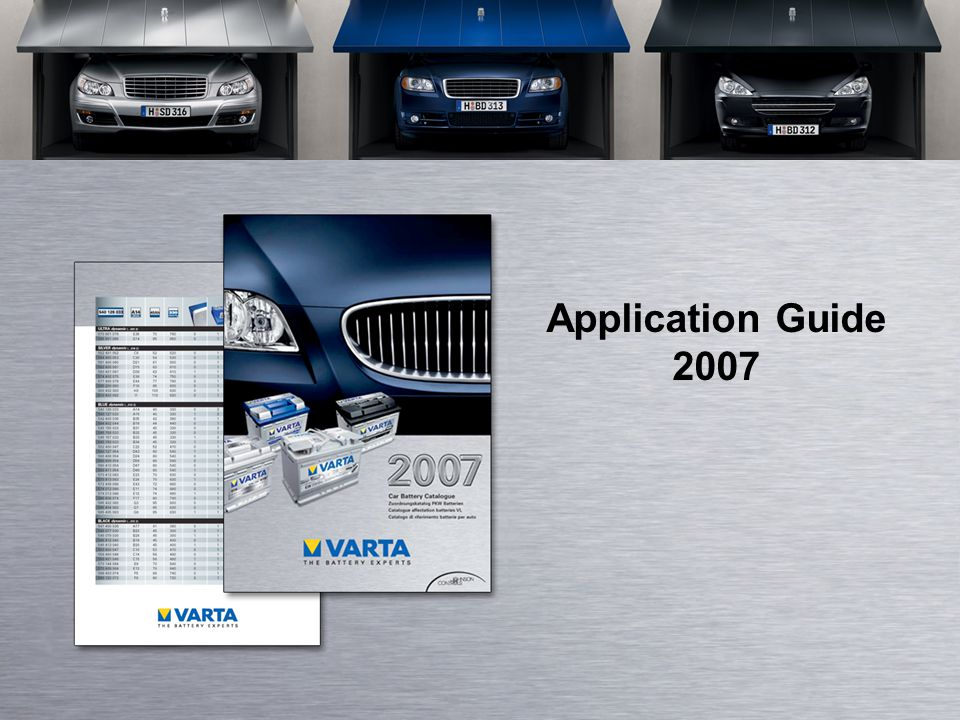 Application Guide 2007
