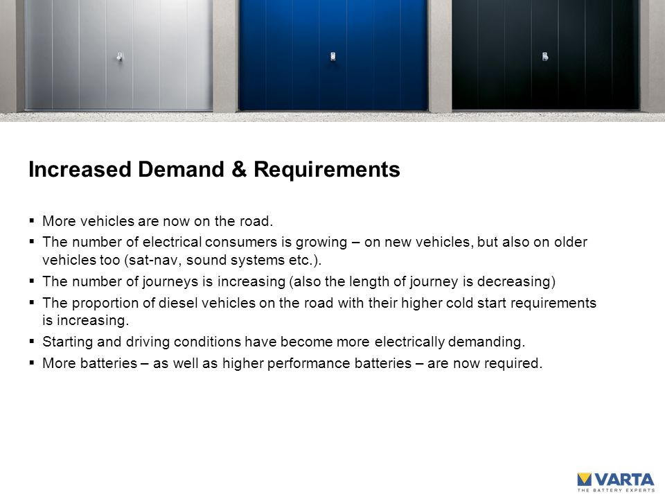 Increased Demand & Requirements  More vehicles are now on the road.