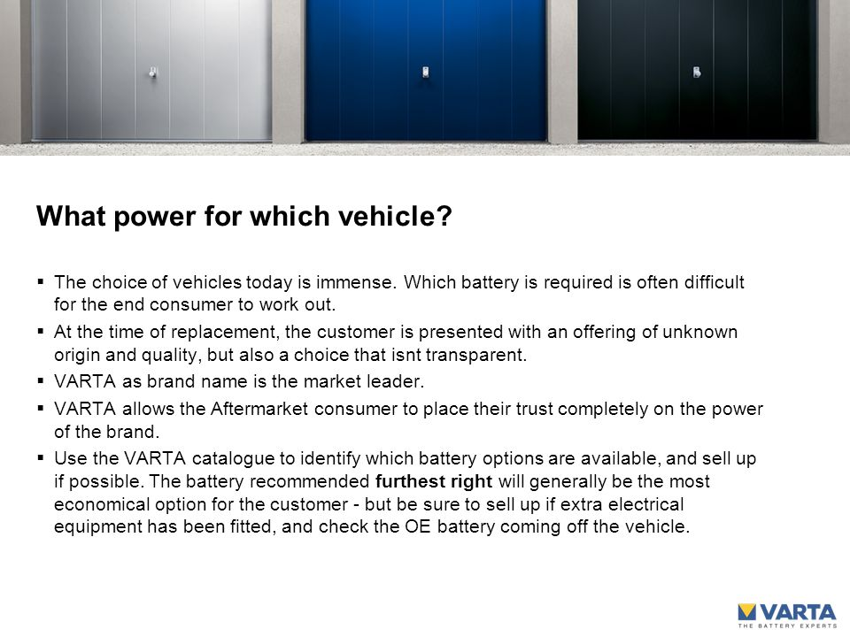 What power for which vehicle.  The choice of vehicles today is immense.