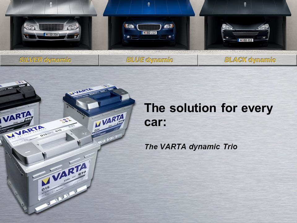 The solution for every car: The VARTA dynamic Trio