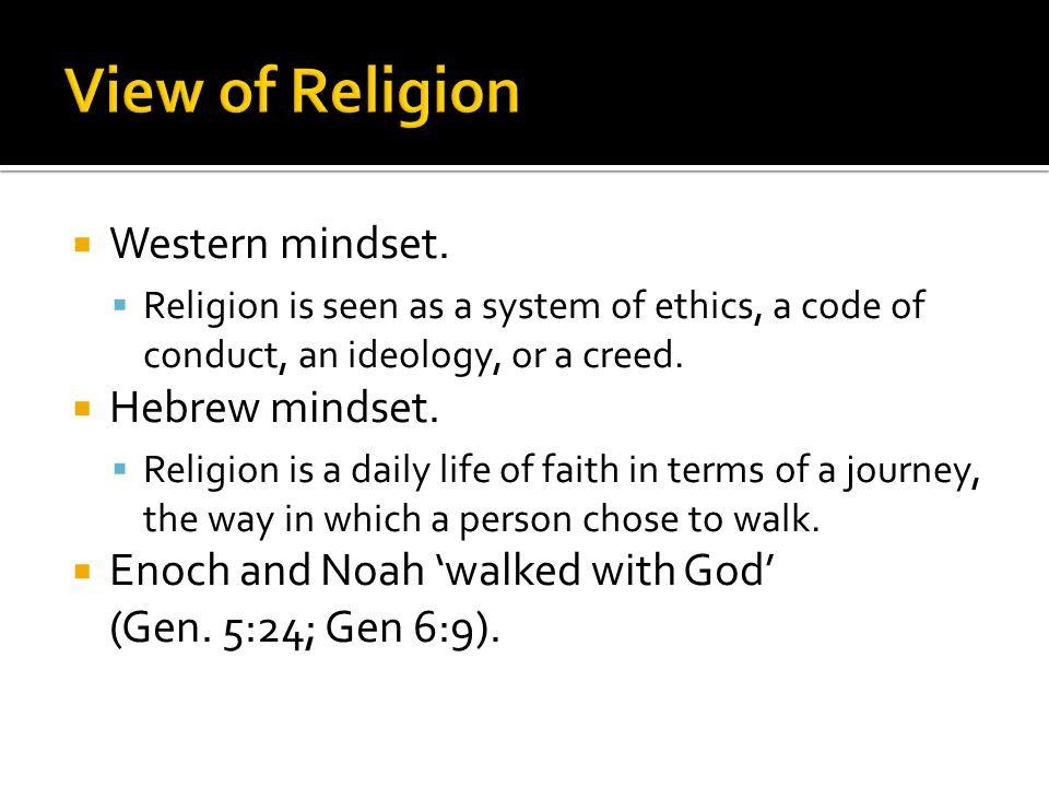  Western mindset.