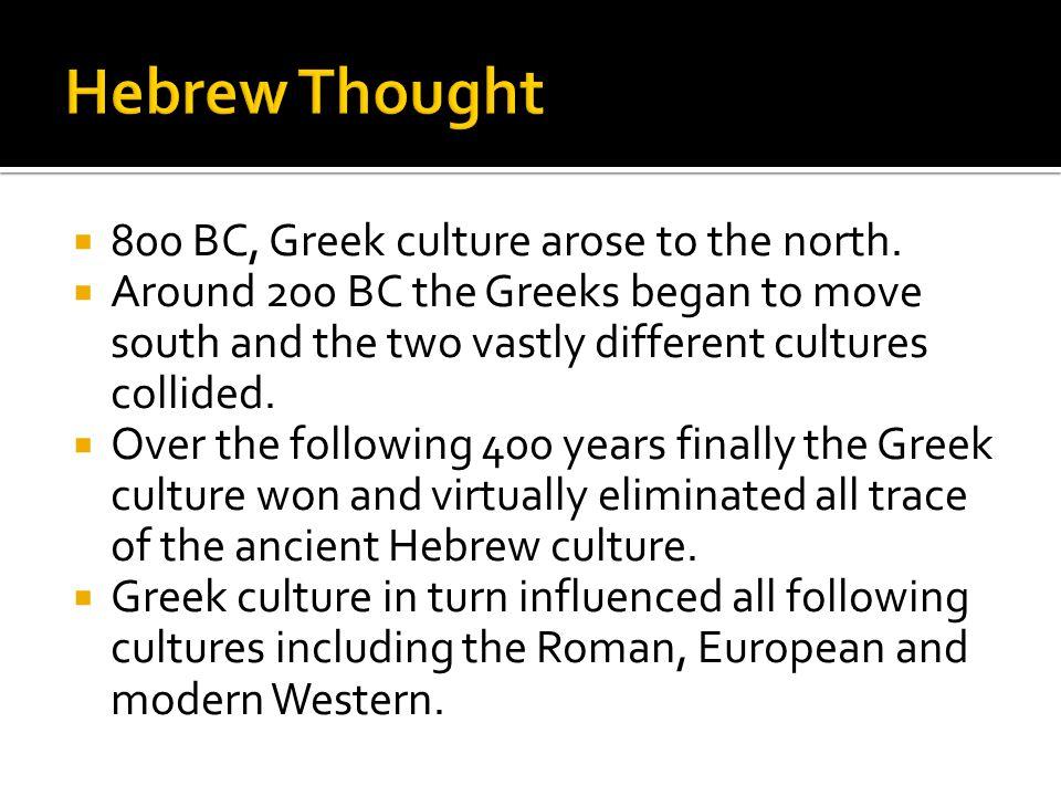  Hebrew - primarily a language of senses.
