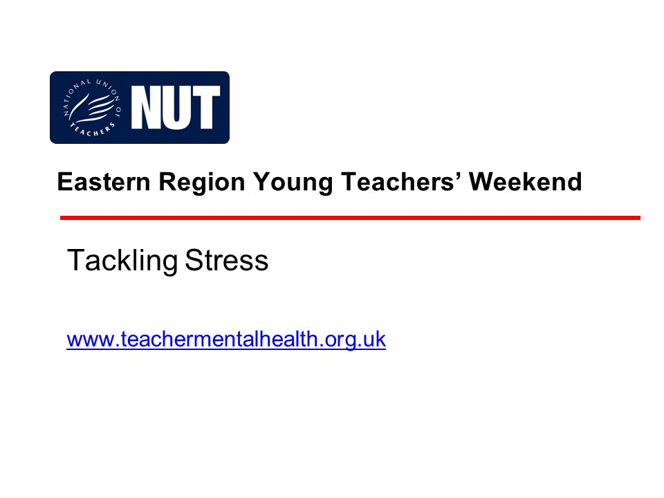 This talk is about: The impact of work stress on the health and well-being of teachers.