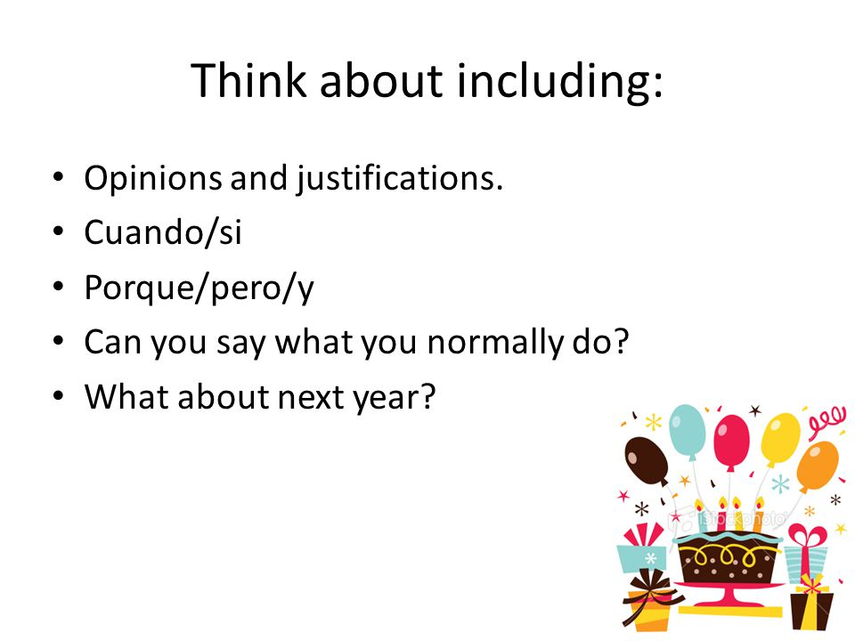Think about including: Opinions and justifications.