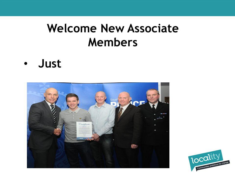 Welcome New Associate Members Just