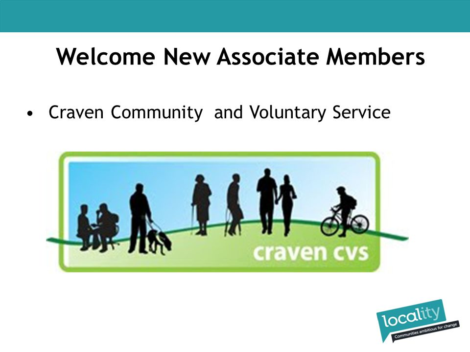 Welcome New Associate Members Craven Community and Voluntary Service