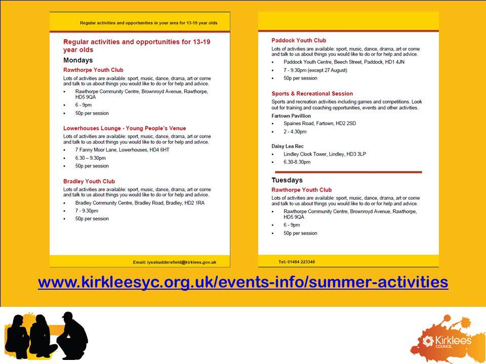 www.kirkleesyc.org.uk/events-info/summer-activities