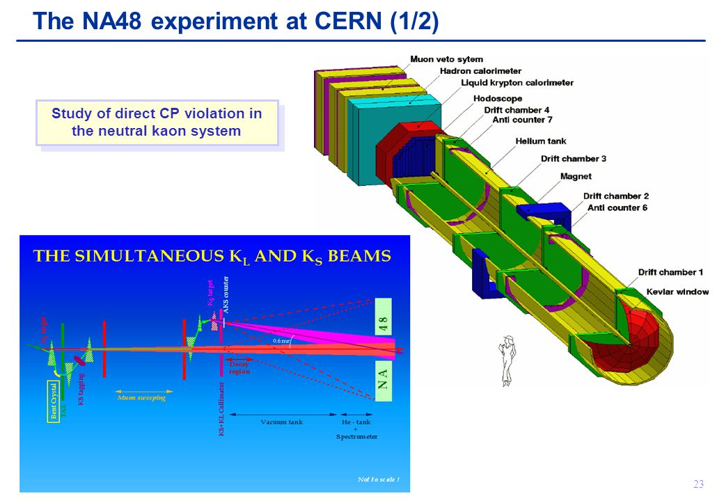 Chris Parkes23 The NA48 experiment at CERN (1/2) Study of direct CP violation in the neutral kaon system