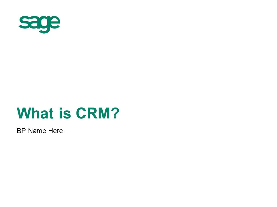 2 Agenda What is CRM.