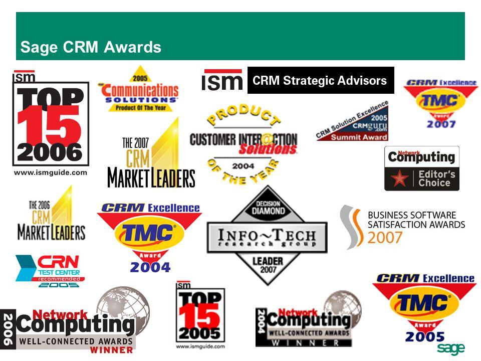 27 Sage CRM Awards