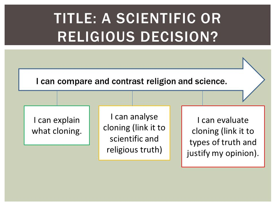 TITLE: A SCIENTIFIC OR RELIGIOUS DECISION. I can explain what cloning.