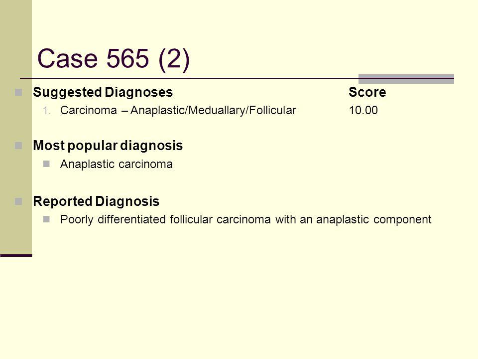 Case 565 (2) Suggested DiagnosesScore 1.